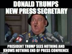 Spicer, or any likely replacement at a Press Conference or Briefing -- Nothing, Period.