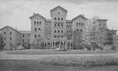 Foster State Hospital  - The Kirkbride building in the 1880s. The hospital began only treating the insane around this time, however by 1839 overcrowding was an issue. Partly influenced by mental health reformer Dorthea Dix, the hospital was relocated out of the city and onto a rural tract of land in 1852 to accommodate larger buildings and a farm - and where it still operates to this day.