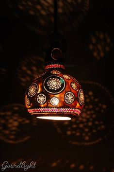 Handcrafted gourd lamps by Gourdlight - ego-alterego.com