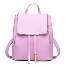 Women Backpack High Quality PU Leather Mochila Escolar School Bags For Teenagers Girls Top-handle Backpacks Herald Fashion Faux Leather Backpack, Pu Leather, Leather Backpacks, Leather Fashion, Leather Satchel, Vegan Leather, Black Leather, Fashion Bags, Fashion Backpack