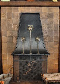 Craftsman Interior Living Room/ Dining Room Labor of Love. Fireplace hood.