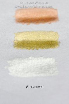 metallic color pencil tutorial