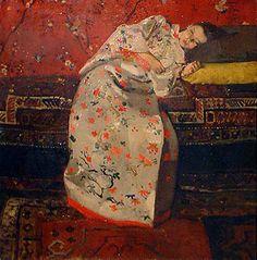 breitner kimono1 Vrouw in kimono bij Vincent van Gogh, Georg Breitner, Claude Monet