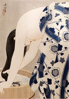 Ito Shinsui - Washing the hair - 1953