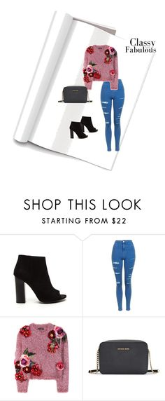 """""""#outfit #autumn #classyandfabulous #greatlook"""" by gabriela-przystal on Polyvore featuring moda, Topshop, Dolce&Gabbana i Michael Kors"""