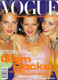 Amber, Kate & Nadja - British Vogue  Dec 1994