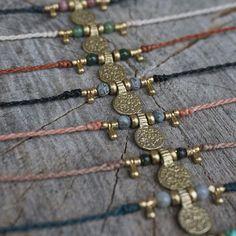 New Designs  #knotting #makramee #necklace #kette #beads #micromacrame #sonya6000 #sonyalpha6000 #berlinfashion #berlin #handmade #handgemacht #perlen #choker #gold #madewithlove #madeinberlin #bastelsonntag #hippie #hippiejewelry #jewelry #schmuck #etsy #etsyde