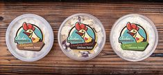 Chicken Kitchen Branding & Packaging by Wildfire Ideas - Grits & Grids® Food Packaging Design, Packaging Design Inspiration, Brand Packaging, Chicken Logo, Chicken Shop, Fried Chicken, Lowes Food, Rooster Logo, Chicken Illustration