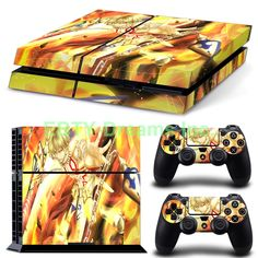 Sony Playstation 4 (PS4) - Fate Stay Night Anime Zero Gilgamesh Archer King Vinyl Skin Sticker Decal Protector