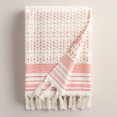 One of my favorite discoveries at WorldMarket.com: Coral Riley Sculpted Bath Towel