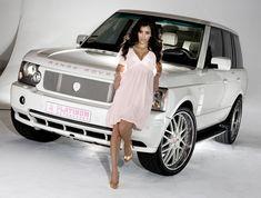 Kim's white Range Rover HSE built by Platinum Motorsport