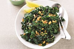 Silverbeet (chard) w/walnuts & lemon -Your greener future starts here, with a healthy side to crunch and munch through! Walnut Recipes, Beet Recipes, Spinach Recipes, Raw Food Recipes, Vegetarian Recipes, Cooking Recipes, Healthy Recipes, Savoury Recipes, Paleo Meals