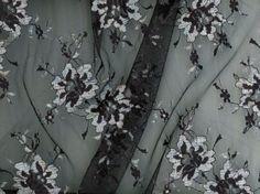 Iridescent Designer Lace Black