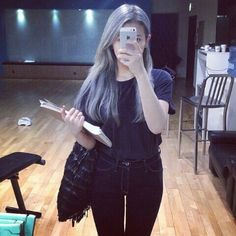 Pretty Face, Girl Crushes, Jimin, Goth, Blue, Outfits, Clothes, Hair Colors, Style