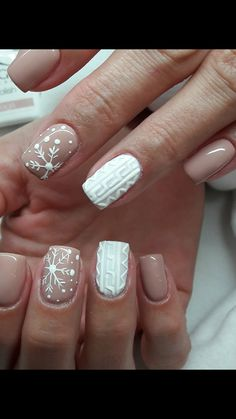 Snowflake Square Winter Nails Ideas Try In 2019 Winter Snowy Nails Art Design, Christmas nails, Snowflake Nail Design, Christmas Nail Art Designs, Winter Nail Designs, Winter Nail Art, Snowflake Nails, Winter Nails 2019, Christmas Design, Cute Christmas Nails, Xmas Nails