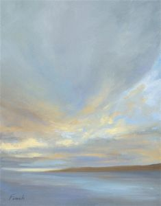 Original art for sale at UGallery.com | Light - 3 by Sheila Finch | $900 | oil painting | 14' h x 11' w