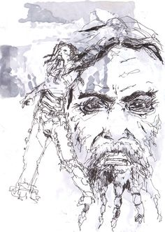 Rob Zombie sketch out of one of my sketchbooks, just for fun