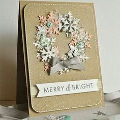 Snowflake on kraft card