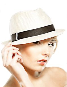 Summer Straw Sun Hat Ivory Natural Sisal Unisex Trilby Hat Fedora Black Tape Perfect Gift Vintage Inspired Handmade