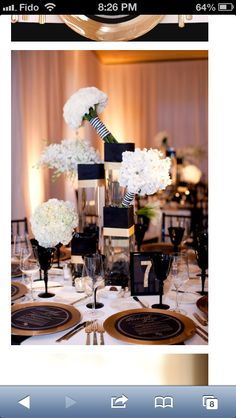 Black white striped and gold wedding