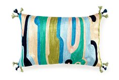 Another lovely handmade pillow in a lovely colour pallet.