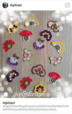 "Diy Crafts - Hobi ""Crocheted Flower Necklace Oya with semiprecious by fatwoman"", ""This post was discovered by İrf"", ""This post was discove Crochet Buttons, Bead Crochet, Crochet Motif, Crochet Designs, Crochet Lace, Crochet Stitches, Crochet Earrings, Crochet Flower Scarf, Crochet Flowers"
