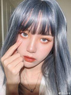 Hair Color Purple, Blue Hair, Hair Streaks, Korean Beauty Girls, Hair Reference, Dye My Hair, Aesthetic Hair, Grunge Hair, Ulzzang Girl