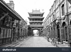 Chinese Architecture / Market tower (14th century), Pingyao, Shanxi Province,