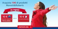 Promozione Manetti & Roberts: buoni carburante e ricariche da 10 euro in omaggio