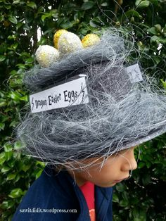 This morning was my son's Easter Hat Parade at school, so I think it's ok to now share his hat design with you ;) I love Easter Hat time at school; Boys Easter Hat, Easter Bonnets For Boys, Easter Hat Parade, Crazy Hair Day Boy, Crazy Hat Day, Crazy Hats, Easter Camping, Wacky Hair Days, Cute Harry Potter