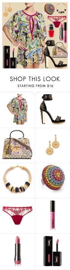 """Be fashionable"" by gadinarmada-1 ❤ liked on Polyvore featuring Etro, Alexander McQueen, Gucci, Oscar de la Renta, Lizzie Fortunato, Elizabeth Cole, Fleur of England, LORAC, Yves Saint Laurent and Guerlain"