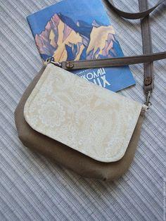 Купить Маленькая сумочка для прогулок - бежевый, пейсли, сумочка, сумка женская, купить сумку женскую