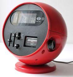 Flip Clock Ball Radio 1970s