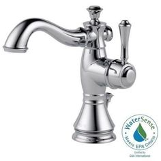 Delta Cassidy Single Hole Single-Handle Bathroom Faucet in Chrome with Metal Pop-Up-597LF-MPU - The Home Depot