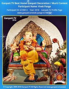 Vivek Pange Ganpati 2018 Decoration Pictures, Decorating With Pictures, Ganpati Picture, Ganpati Festival, Festival Decorations, Ganesha, Picture Video, Rocks, Tv
