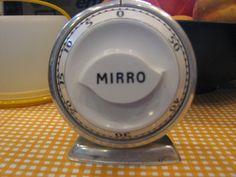 Vintage Mirro retro kitchen timer by vintageleeyours on Etsy, $14.95