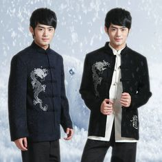 dress amazing on sale at reasonable prices, buy 2013 men's tang suit clothing, men tang suit long-sleeve coat, casual commercial chinese style tops, chinese traditional dress from mobile site on Aliexpress Now! Mens Traditional Wear, Traditional Dresses, Chinese Shirt, Chinese Outfit, Mens Wedding Tux, Casual Outfits, Fashion Outfits, Men's Fashion, Vintage Fashion