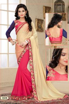 Beautiful Cream and Pink Embroidered Saree. Redefine the party groove with this Saree. This saree will keep you comfortable all day long. This saree is quite comfortable to wear and easy to drape as well. This saree comes with matching unstitch Blouse. #saree, #sarees, #wholesalesuppliers, #wholesalesellers http://www.addsharesale.com/