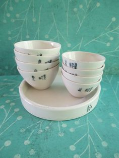 Eight Little Vintage Porcelain Coors Bowls and a by 5and10vintage