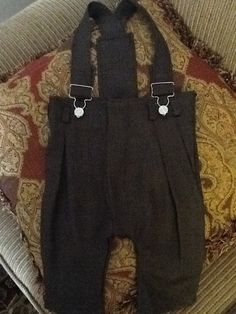 2-3t overalls, upcycled adult trousers into child overalls.