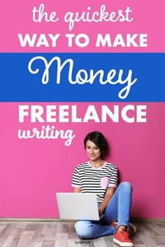 Learn the quickest way you can make money as a freelance writer! If you love writing then why not make money? Freelance writing is for you for sure so you can work from home! Easy Online Jobs, Make Money Online, How To Make Money, Online Writing Jobs, Freelance Writing Jobs, Make Money Writing, Writing Tips, Creative Jobs, Business Motivation