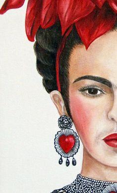 Frida Kahlo Oil Painting, Frida Kahlo art, Mexican painting, Mexican decor, Frida Kahlo - New Deko Sites Frida Paintings, Mexican Paintings, Acrylic Paintings, Frida Kahlo Portraits, Frida Kahlo Artwork, Art Beauté, Frida And Diego, Frida Art, Mexican Artists