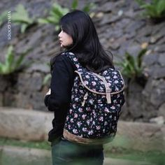 VISVAL SOKA BLACK FLORAL Leather Backpack, Fashion Backpack, Backpacks, Floral, Bags, Handbags, Leather Backpacks, Flowers, Backpack