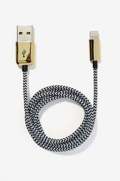 Herringbone Skinnydip London USB iPhone 5 Cable