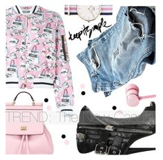 """""""Simply Casual is Sexy"""" by chiclookdujour ❤ liked on Polyvore featuring Moschino, Giuseppe Zanotti, Dolce&Gabbana, Daniel Wellington, Nicki Minaj, women's clothing, women, female, woman and misses"""
