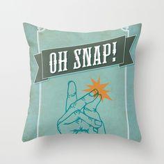 Oh Snap! Throw Pillow