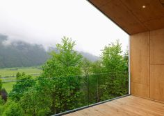 Mountain View House nestles by a hillside in the Austrian Alps