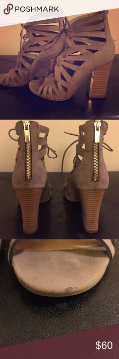 """Wedges Call it spring """" wedge heels worn many times.  a few scrape marks as seen above on picture Call It Spring Shoes Wedges"""