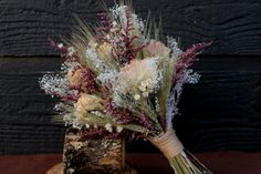 Romantic Rustic Bouquet Bridal by SmokyMtnWoodcrafts, $45.00 Think this would look pretty in the living room.