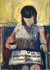 Femme avec un journal - (Richard Diebenkorn)